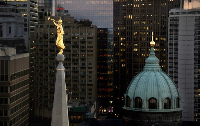The Look of Mormon: 5 Unique Photos of the Philadelphia Temple's Angel Moroni