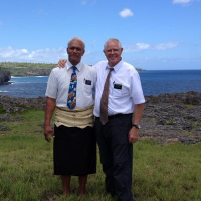 Elder Loueni Huni and Elder Richard Radmacher