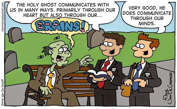 Funny LDS Missionary Comic by Arie Van De Graaff