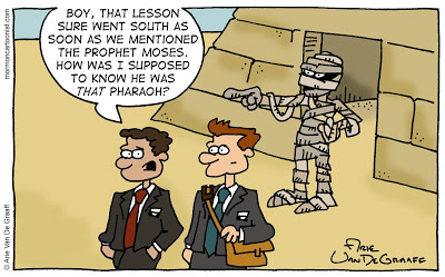 Funny Mummy Comic with LDS Missionaries by Arie Van De Graaff