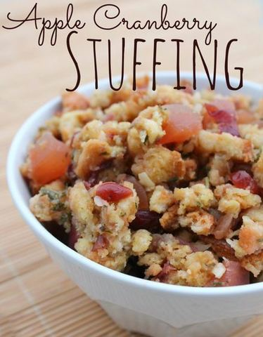 Thanksgiving Recipes: Apple Cranberry Stuffing