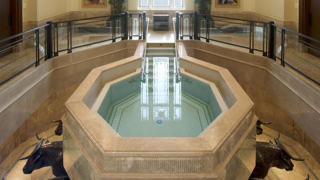 The baptistry in the Tucson Arizona Temple.