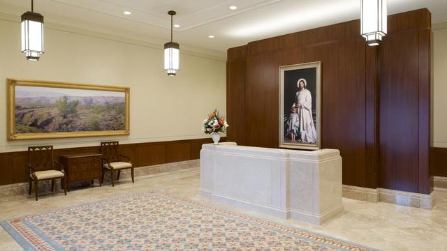 The entry way to the Tucson Arizona Temple.