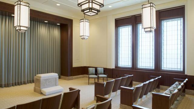 An instruction room in the Tucson Arizona Temple.
