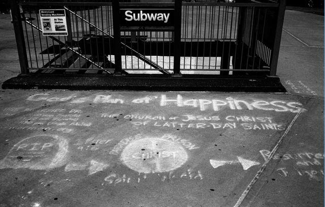 Plan of Salvation Mormon Chalk Art in New York