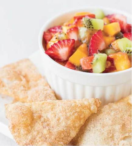 Fruit Salsa With Cinnamon-Sugar Chips