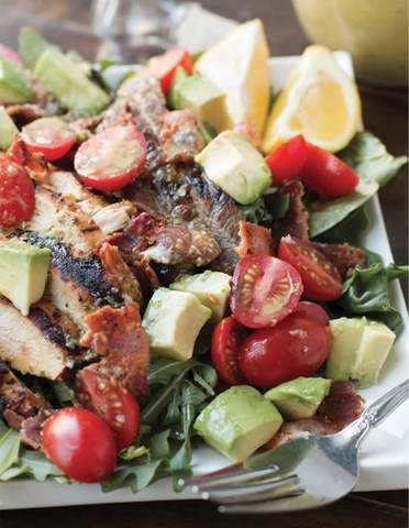 Double-the-Meat, Hold-the-Bread BLT with Cilantro-Lime Dressing