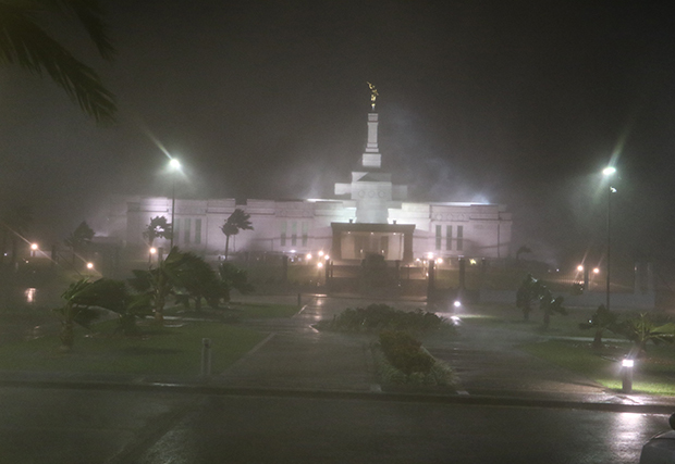 Suva Fiji Temple in a Cyclone