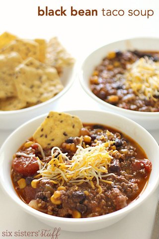 Black Bean Taco Soup Freezer Meal