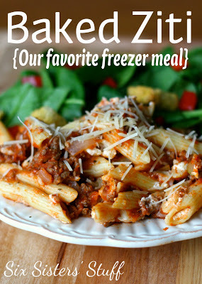 Baked Ziti Freezer Meal