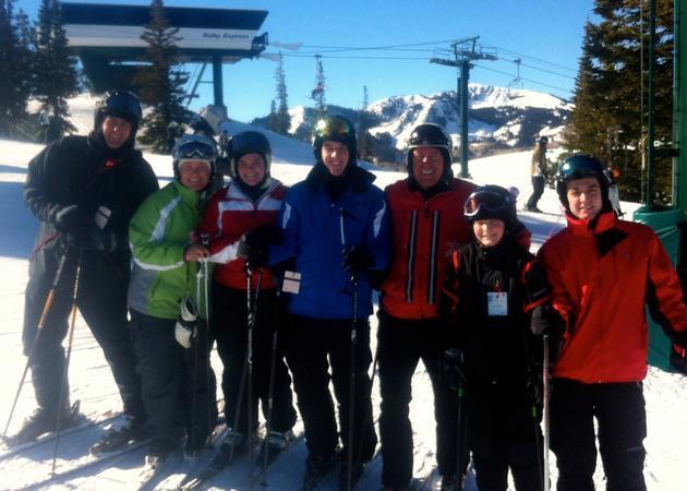 President Uchtdorf Skiing