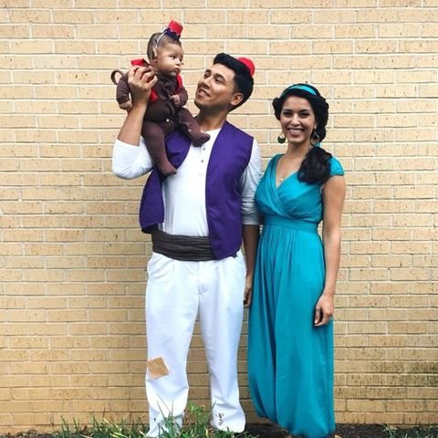 Jasmine Aladdin and Aboo · Clever Last-Minute Halloween Costumes  sc 1 st  LDS Living & 40 Clever Last-Minute Halloween Costumes for the Whole Family | LDS ...