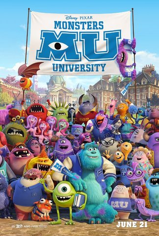 Disney & Pixar's Monsters University Movie Poster