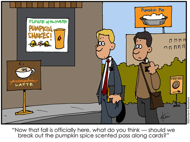 Pumpkin Spice Comic with LDS Missionaries by Keven Beckstrom