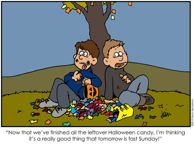 Fun Halloween Candy Comic by LDS Artist Keven Beckstrom