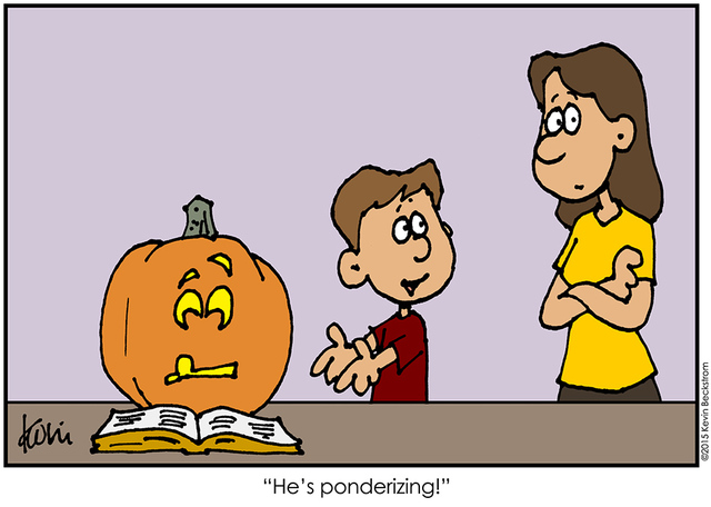 LDS Halloween Comic about Ponderizing by Keven Beckstrom