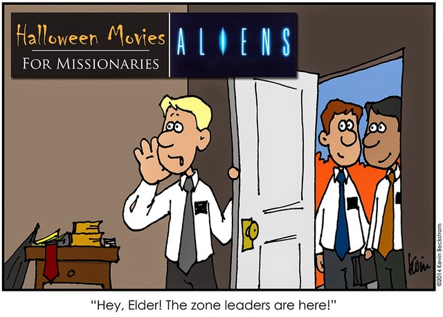 LDS Missionary Comic about Halloween Moves by Keven Beckstrom