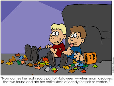 Funny LDS Halloween Comic by Keven Beckstrom