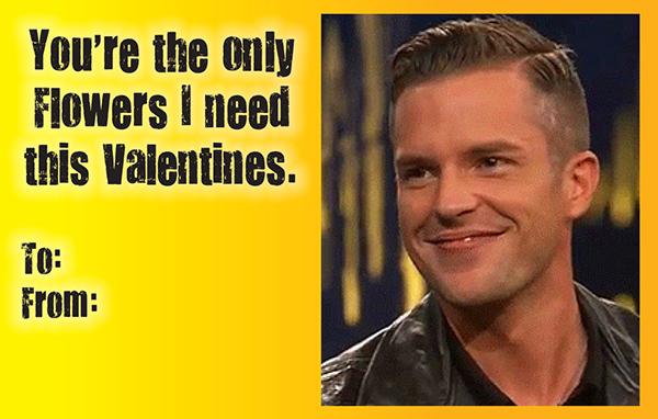 Brandon Flowers Valentine