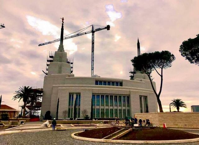 Construction on the Rome Italy Temple