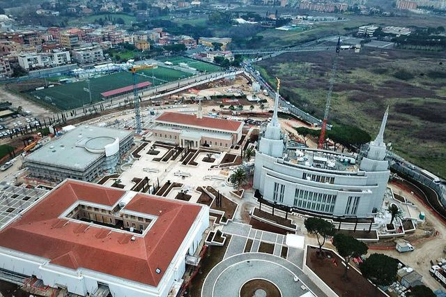The first aerial photos on the Rome Italy Temple