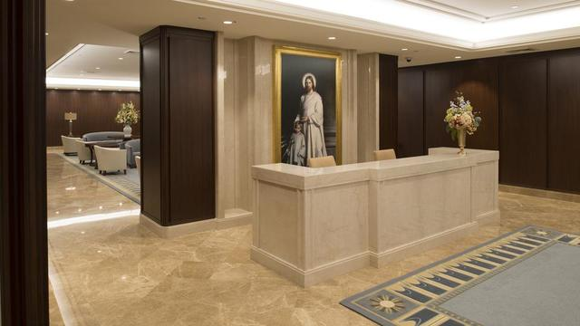 The entry in the Jordan River Utah Temple.