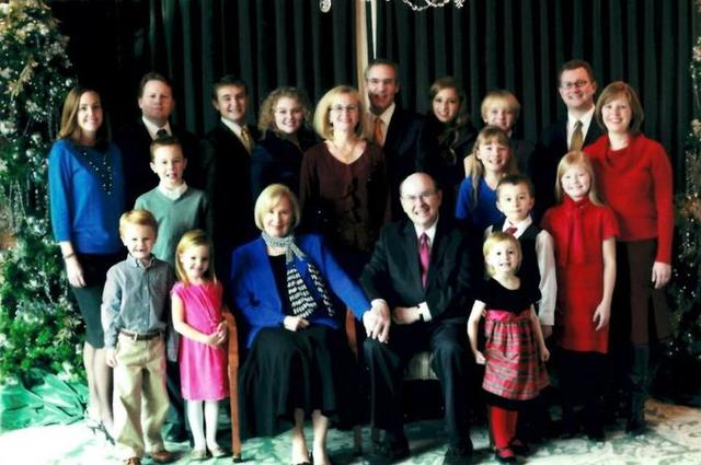 Image titleElder Cook and his family.  Image from Deseret News.
