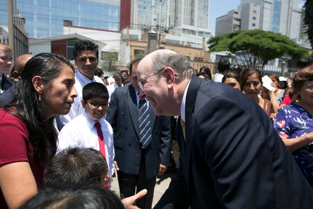 Image titleElder Cook an his trip to Lima, Peru, and Santa Cruz, Bolivia. Image from Facebook.