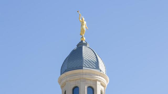 The angel Moroni on the Concepción Chile Temple.