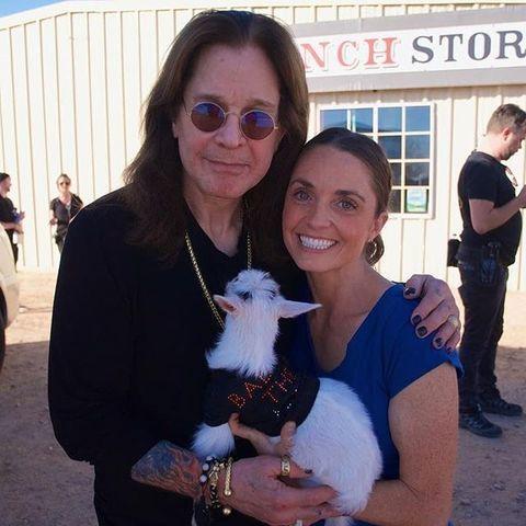 Ozzy Osbourne tries goat yoga