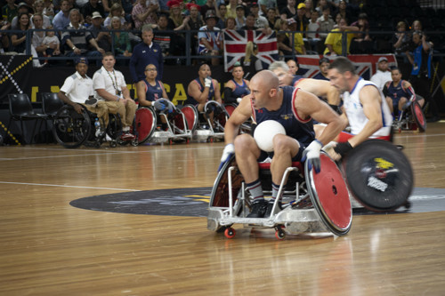 Retired Air Force Tech. Sgt. Joshua D. Smith competes at the 2018 Invictus Games in Australia in October