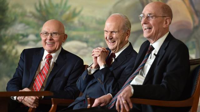 The new First Presidency of The Church of Jesus Christ of Latter-day Saints