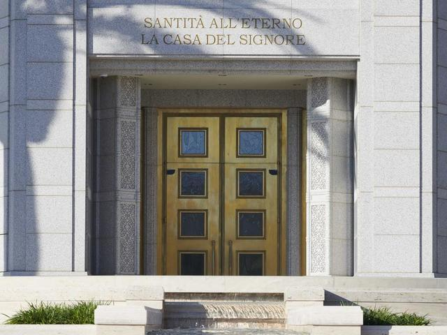 Entry into the Rome Italy Temple.
