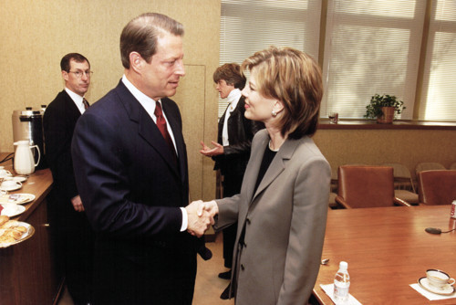 Jane Clayson Johnson with former U.S. Vice President Al Gore.