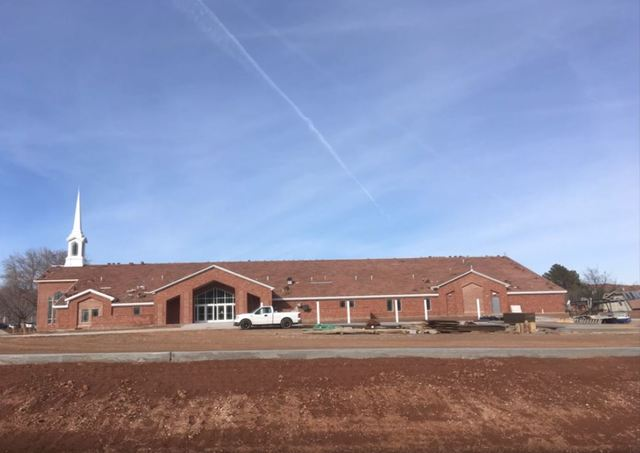 The stake center is almost complete