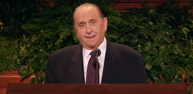 President Monson announcing the Rome Italy Temple
