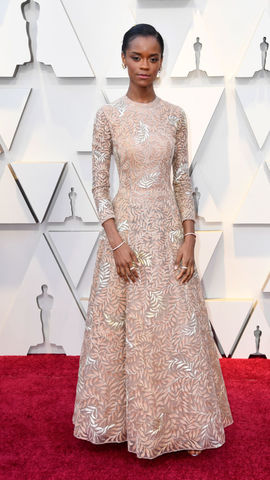 Letitia Wright at the Academy Awards 2019