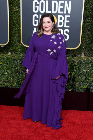 Melissa McCarthy at the Golden Globes