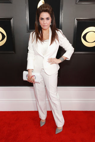 Emily Lazar at the 2019 Grammys