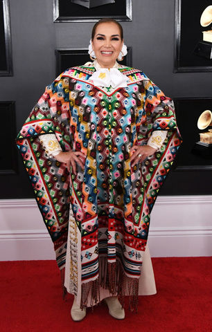 Aida Cuevas at the 2019 Grammys