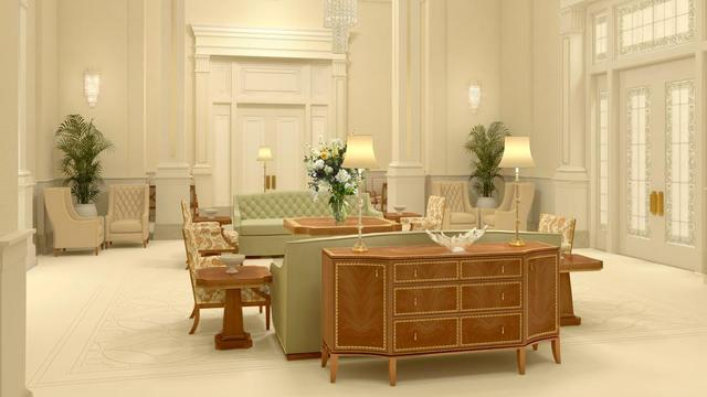 A rendering of the Pocatello Idaho Temple celestial room.