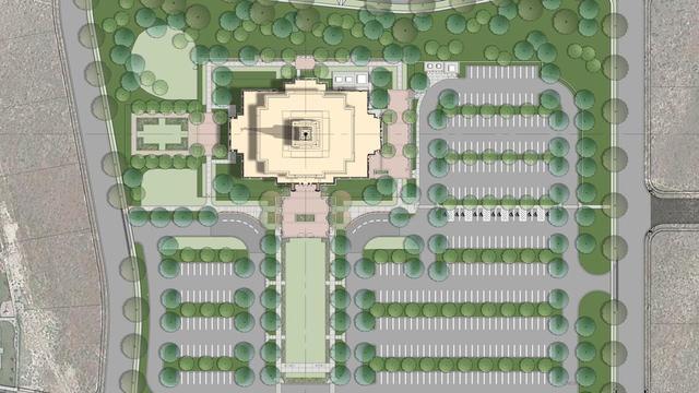 Site plans for the Pocatello Idaho Temple.