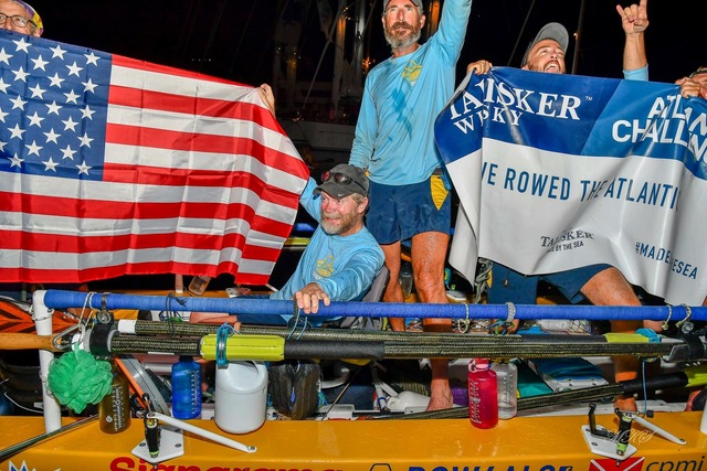 The Row4ALS team after they finished the Atlantic Challenge and Alan Alderman became the first man with ALS to row across the Atlantic
