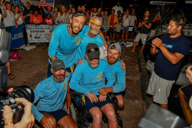 The Row4ALS team posing for a picture after rowing across an ocean to raise awareness for ALS