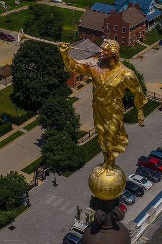 Nauvoo Temple Struck by Lightning, Angel Moroni Damaged