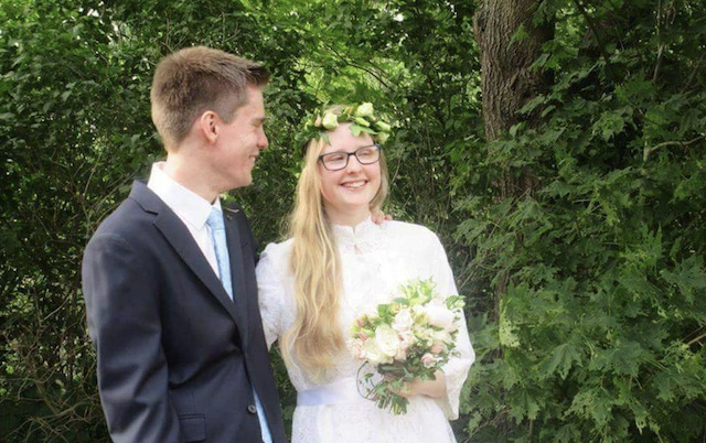 Persson and Krekula on their wedding day