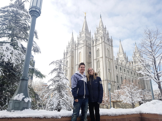 Persson and Krekula on Temple Square