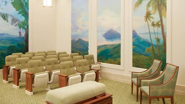 An instruction room in the Port-au-Prince Haiti Temple.