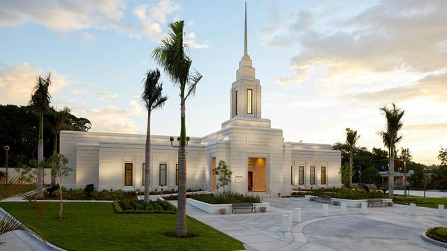 The Port-au-Prince Haiti Temple exterior.
