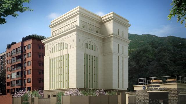 Rendering of the Hong Kong China Temple.